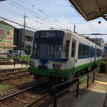 Photo taken at 神明駅 (Shimmei Sta.) by i3miura on 7/12/2014