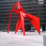 Photo taken at Alexander Calder's Flamingo Sculpture by Amanda A. on 3/26/2013