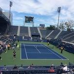 Photo taken at Grandstand - USTA Billie Jean King National Tennis Center by Jairo S. on 9/3/2014