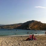 Photo taken at Παραλία Λιμνιώνασ by Thalis on 8/17/2012
