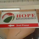 Photo taken at Hope Samarahan by Miss Tinnie O Tinnie T. on 8/26/2012