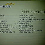 Photo taken at Bank mandiri kusuma bangsa by rani m. on 11/30/2012