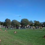 Photo taken at Linwood Panthers Field (All Wars Memorial Field) by Lisa M. on 10/14/2012