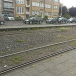 Photo taken at Tram 5 : Halte - Antwerp Stadion by Tim on 10/5/2012