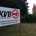 Photo taken at KVB Betriebshof Merheim by Stefan L. on 6/18/2014