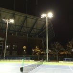 Photo taken at Grandstand - USTA Billie Jean King National Tennis Center by Paul S. on 10/18/2014