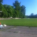 Photo taken at Стадіон Лісотехнічного університету by Ket K. on 5/21/2014