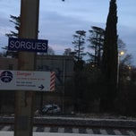 Photo taken at Gare SNCF de Sorgues - Châteauneuf-du-Pape by Kenny W. on 3/13/2015