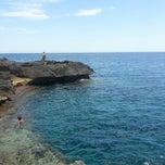 Photo taken at La spiaggetta di porto miggiano by Veronica A. on 7/3/2014