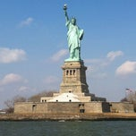 Photo taken at Statue of Liberty by Mark P. on 4/1/2013