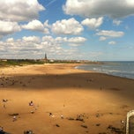 Photo taken at Cullercoats Beach by Meri W. on 5/26/2013