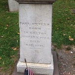 Photo taken at Paul Revere's Tomb by Chris C. on 8/31/2014