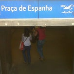 Photo taken at Metro Praça de Espanha [AZ] by Filipe N. on 5/24/2012
