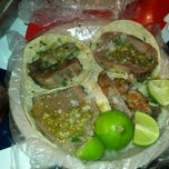 "Photo taken at Tacos ""El guero"" de Santa Fe by Fernanda A. on 12/5/2011"