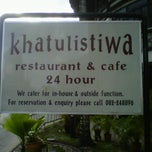Photo taken at Khatulistiwa Restaurant & Cafe by Wafie A. on 3/6/2012