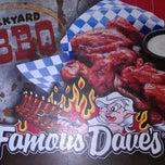 Photo taken at Famous Dave's by Miss JuJu on 3/17/2012