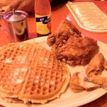 Photo taken at Roscoe's House of Chicken and Waffles by Brooklyn C. on 3/27/2012