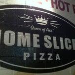 Photo taken at Home Slice Pizza by Rachel M. on 4/22/2012