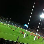Photo taken at Waikato Stadium by BurgerFuel on 9/16/2011