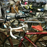 Photo taken at Mr. Michael Recycles Bicycles by Benita W. on 8/28/2011