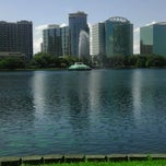 Photo taken at Lake Eola Park by Stephanie L. on 3/27/2012