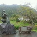 Photo taken at 剣豪 佐々木小次郎の像 by gidora on 9/16/2011