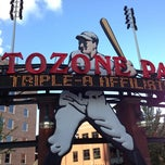 Photo taken at AutoZone Park by Melissa B. on 7/24/2012
