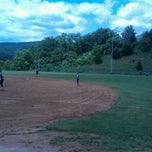 Photo taken at Tom's Creek Softball Field by Meaghan H. on 6/2/2012