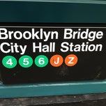 Photo taken at MTA Subway - Brooklyn Bridge/City Hall/Chambers St (J/Z/4/5/6) by Masashi S. on 4/18/2012