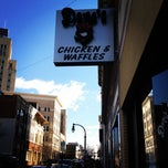 Photo taken at Dame's Chicken & Waffles by Lee F. on 12/28/2011