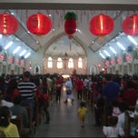 Photo taken at Gereja Katholik Santa Maria by Leonardus Yogie D. on 1/22/2012