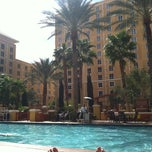 Photo taken at Wyndham Grand Desert Hot Tub by Erin H. on 3/14/2012