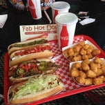 Photo taken at Fab Hot Dogs by Antwon R. on 4/24/2012