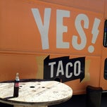 Photo taken at YES! Taco at SiNaCa Studios by Chris F. on 3/23/2012