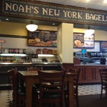 Photo taken at Noah's New York Bagels by Erkan Y. on 3/16/2012