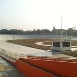 Photo taken at Velodrome Rawamangun by Adhitya H. on 9/5/2011