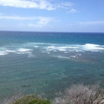 Photo taken at Amelia Earhart marker at Diamond Head Lookout by Kelly M. on 5/23/2012