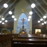 Photo taken at Gereja Katolik Roh Kudus by Aine L. on 12/22/2011
