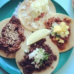 Photo taken at La Taqueria Pinche Taco Shop by Miso H. on 8/12/2012