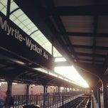 Photo taken at MTA Subway - Myrtle/Wyckoff Ave (L/M) by Jose L. on 8/27/2012