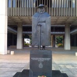 Photo taken at Saint Damien of Molokaʻi Statue by Philip W. on 11/26/2011