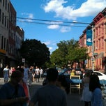 Photo taken at Bedford Ave by Kate M. on 6/23/2012