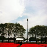 Photo taken at Stadium Sultan Ibrahim, Muar by Mannson on 2/17/2012