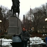 Photo taken at George Washington Statue by Jason B. on 1/8/2011