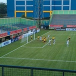 Photo taken at Stadion Lebak Bulus by Rozy R. on 11/5/2011