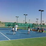 Photo taken at JC's Tennis Academy by Hussain K. on 11/30/2011