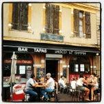 Photo taken at Place De L'Estrapade by Vasco L. on 6/21/2012