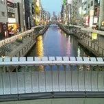 Photo taken at 戎橋 by 逆襲のKI-SAN on 8/18/2011