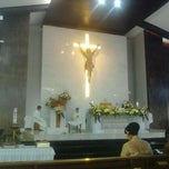 Photo taken at Gereja Santa Anna by Laurenz U. on 5/26/2012