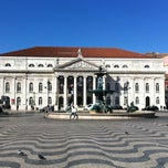 Photo taken at Rossio by Eduardo Castro on 2/24/2012